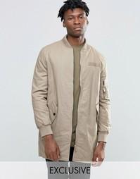 Удлиненная куртка‑пилот The New County - Хаки