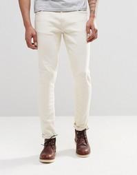 Светло-бежевые стретчевые джинсы скинни Nudie Lin - Экрю