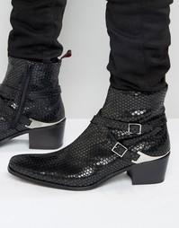 Кожаные ботинки Jeffery West Manero Jodphur - Черный