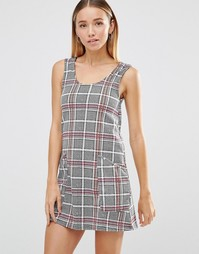 Платье в клетку тартан AX Paris - Серый