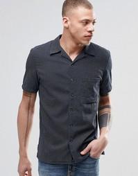 Рубашка цвета индиго с короткими рукавами Nudie Brandon