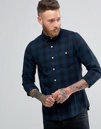Клетчатая рубашка ASOS Buffalo - Темно-синий