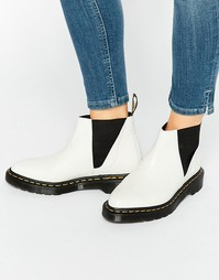Белые ботинки челси Dr Martens Bianca - White polished smoot