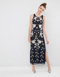 Платье макси с вышивкой и отделкой бисером Frock and Frill