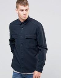 Черная джинсовая рубашка на выпуск с эффектом кислотной стирки ASOS