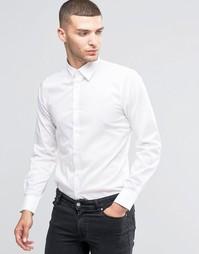 Эластичная рубашка узкого кроя Sisley - Белый 101