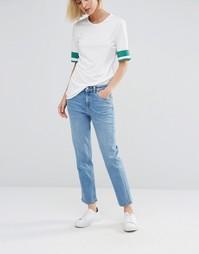 Укороченные джинсы с классической талией Weekday Ami - Синий