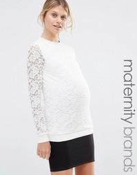 Кружевной джемпер Mamalicious - Белый Mama.Licious