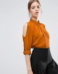 Oversize-блузка с вырезами на плечах и рукавами летучая мышь ASOS