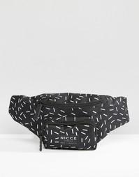Сумка-кошелек на пояс с принтом Nicce - Черный