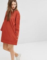 Цельнокройное джинсовое платье Waven Eira - Выгоревший оранжевый