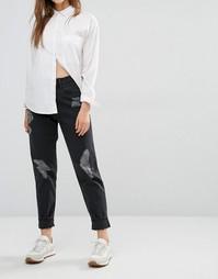 Потертые джинсы в винтажном стиле Waven Elsa - Винтажный черный