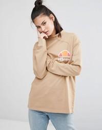 Oversize-свитшот бойфренда с винтажным логотипом на груди Ellesse