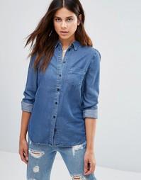 Джинсовая рубашка Selected Debora - Умеренный синий