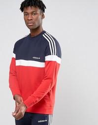 Свитшот с круглым вырезом adidas Originals Itasca AY7712 - Красный