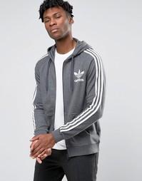 Худи на молнии с логотипом‑трилистником adidas Originals AY7786
