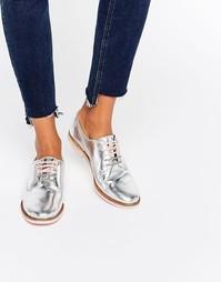 Кожаные туфли со шнуровкой на плоской подошве Ted Baker Loomi