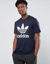 Футболка с трилистником adidas Originals AY7710 - Синий