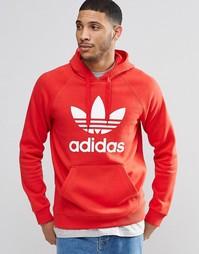Худи с логотипом‑трилистником adidas Originals AY6473 - Красный