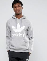 Худи с логотипом‑трилистником adidas Originals AY6472 - Серый