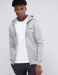 Худи на молнии с трилистником adidas Originals AZ1121 - Серый