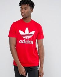 Футболка с трилистником adidas Originals AY7709 - Красный