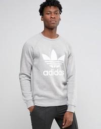 adidas Originals Trefoil Crew Sweatshirt AY7792 - Серый