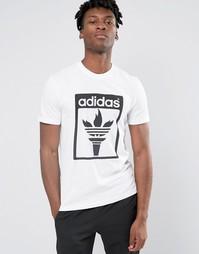 Футболка с трилистником adidas Originals AZ1033 - Белый