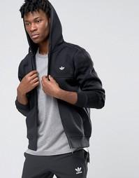 Худи на молнии с трилистником adidas Originals AZ1123 - Черный