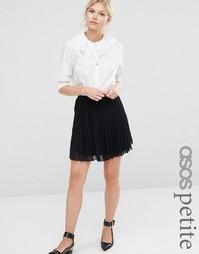 Мини-юбка в складку ASOS PETITE - Черный
