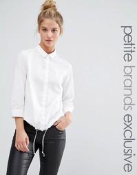 Noisy May Petite Drawstring Hem Shirt - Белый