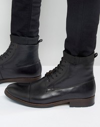 Черные кожаные ботинки на шнуровке Aldo Asodda - Черный