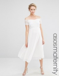 Кружевное приталенное платье для беременных ASOS Maternity