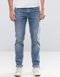 Синие стретчевые джинсы слим ASOS - Умеренный синий