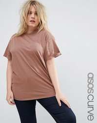 Футболка ASOS CURVE The Ultimate Easy - Шоколадный