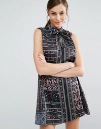 Платье-трапеция с платочным принтом Daisy Street - Принт