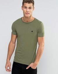 Зеленая облегающая футболка с логотипом ASOS - Оливковый