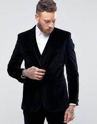 Бархатный пиджак зауженного кроя с шалевым воротником Hart Hollywood b