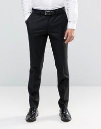 Однотонные брюки-премиум на основе шерсти Feraud Heritage - Черный