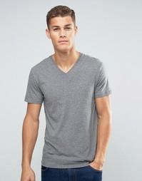 Базовая футболка с V‑образным вырезом Esprit - Умеренный серый меланж