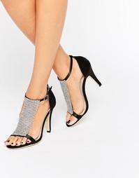 Легкие сандалии на каблуке с отделкой стразами True Decadence