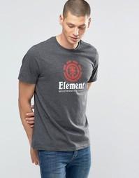 Темно-серая футболка классического кроя с логотипом Element - Серый