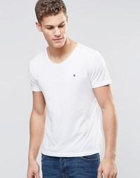 Белая футболка классического кроя Tommy Hilfiger - Ярко-белый