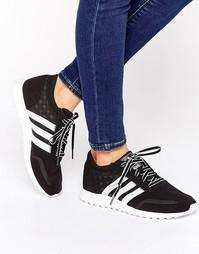 Черно-белые кроссовки adidas Originals Los Angeles - Черная основа