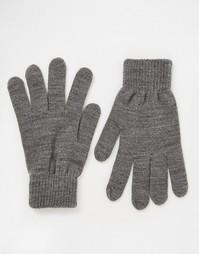 Серые перчатки Pieces - Серый