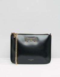 Кожаная сумка через плечо с бантиком Ted Baker - Черный