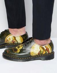 Туфли с 3 парами люверсов Dr Martens 1461 Di Paulo - Черный