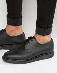 Туфли на танкетке с 3 парами люверсов Dr Martens Torriano - Черный