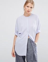 Oversize-блузка с рукавами летучая мышь ASOS - Синий вереск