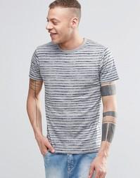 Полосатая футболка с карманом на груди Threadbare - Синий